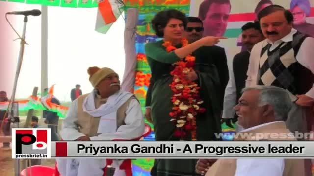 Progressive and energetic Congress campaigner Priyanka Gandhi – charismatic like Indira Gandhi