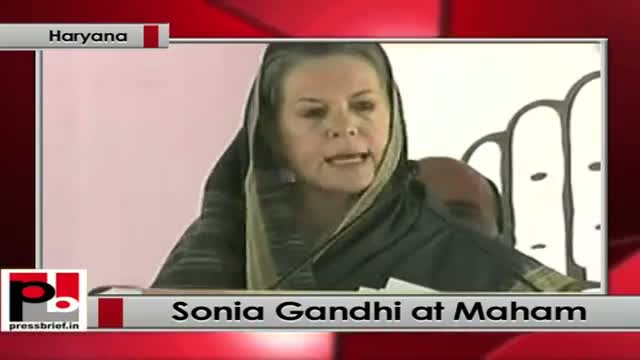 Sonia Gandhi kick starts Congress campaign for Haryana assembly polls