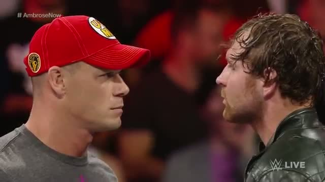Dean Ambrose and John Cena have a heated war of words: WWE Raw, Oct. 6, 2014