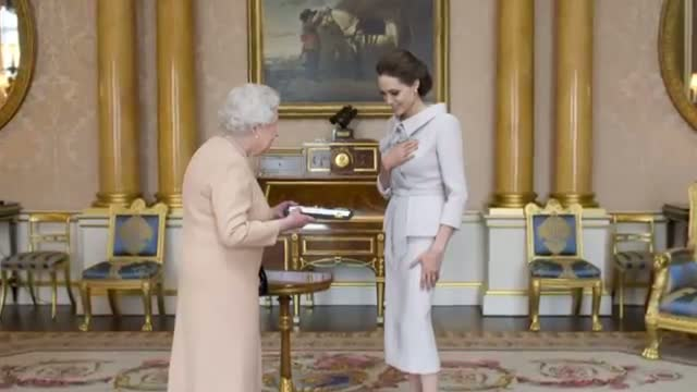 ANGELINA JOLIE'S Private Audience with QUEEN ELIZABETH II