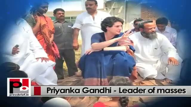 Young Priyanka Gandhi Vadra - easily strikes chord with the people