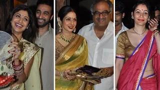 Karva Chauth 2014: Shilpa Shetty, Sridevi & Manyatta Dutt CELEBRATE Karva Chauth