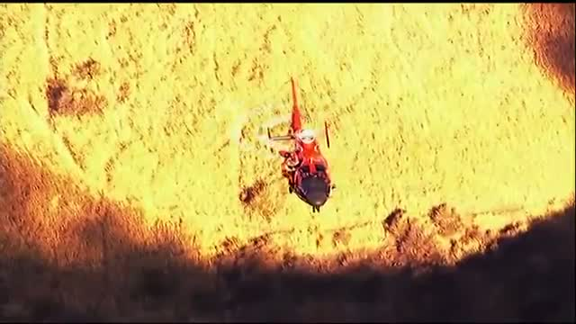 Coast Guard Chopper at Calif. Ravine Rescue
