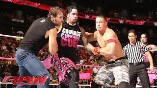 John Cena & Dean Ambrose vs. The Usos vs. Gold & Stardust - WWE Triple Threat Tag Team Match