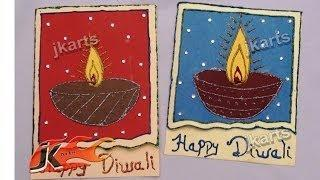 DIY How To Make Diwali Greeting Card (School Project for Kids)