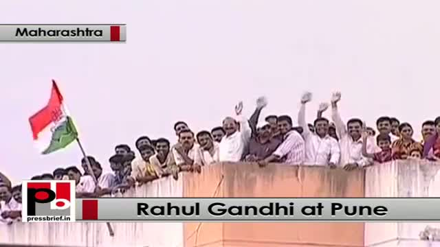 In Pune, Rahul Gandhi takes a dig at Modi's achche din promise