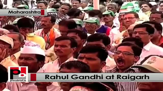 Rahul Gandhi address Congress rally at Raigarh in Maharashtra slams Modi Govt