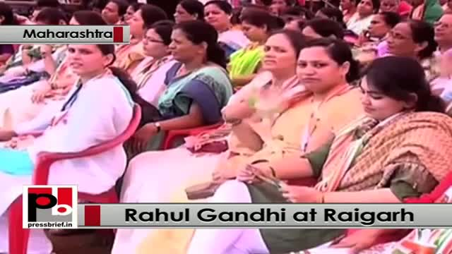 Rahul Gandhi at Raigarh in Maharashtra urges people to vote for Congress