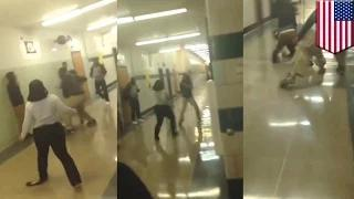 Teacher fights student at Baltimore's Carver Vocational-Technical high school (caught on video)