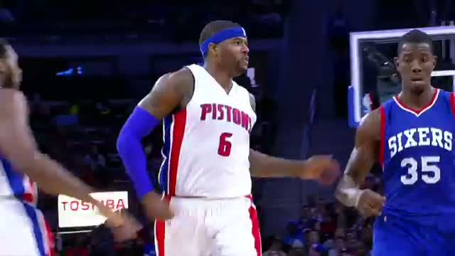 NBA: Josh Smith Throws Down the Hammer on Nerlens Noel