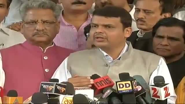Shri Devendra Fadnavis after electing as leader of Maharashtra BJP Legislature Party