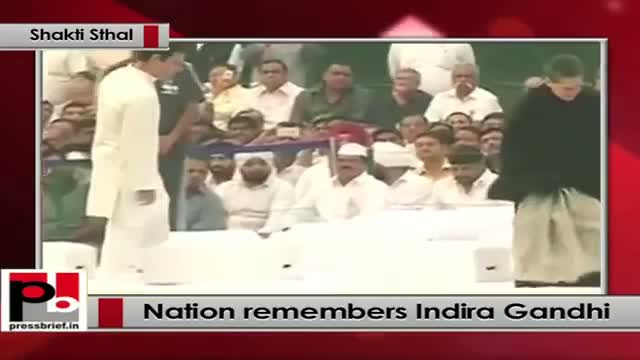 Sonia Gandhi, Rahul Gandhi pay tribute to former PM Indira Gandhi on 30th death anniversary