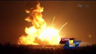 NASA Antares Rocket Explosion! Reporter's Reactions