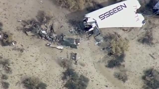 Virgin Galactic spaceship crashes during test flight