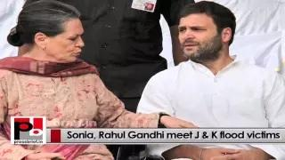 Rahul Gandhi and Sonia Gandhi at flood-hit J&K, interact with people