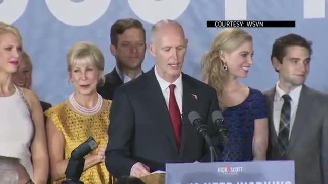 Fla. Gov. Rick Scott Wins Re-election