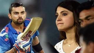Virat Kohli blew a flying kiss to Anushka Sharma : India VS Sri Lanka at Rajiv Gandhi Stadium