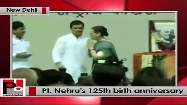 Rahul Gandhi addresses function to commemorate 125th birth anniversary of Pt. Nehru