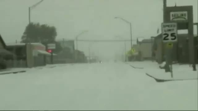 Wintry Weather Hits Southern Plains