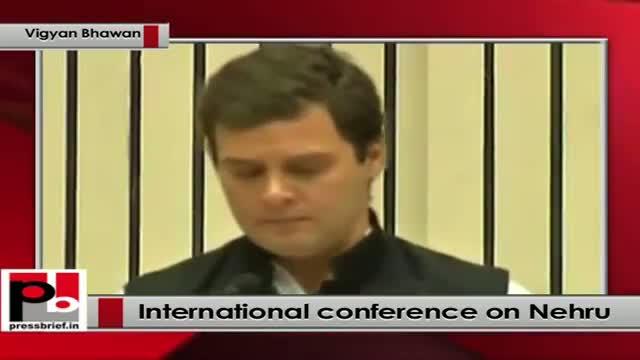 Rahul Gandhi speaks at International Conference to mark 125th Birth Anniversary of Pt. Nehru