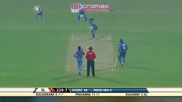 Magnificent bowling from Dhawal Kulkarni gets him 4 wickets (Ind vs SL 2014 - 4th ODI)