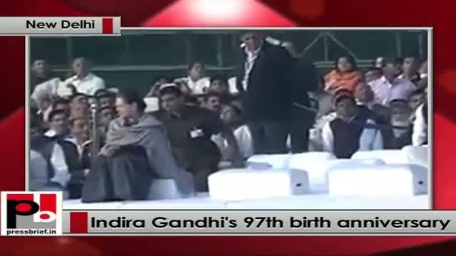 Sonia Gandhi, Rahul Gandhi pay tribute to Indira Gandhi on her 97th birth anniversary