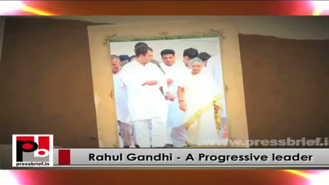 Rahul Gandhi - Young energetic leader with a forward looking vision