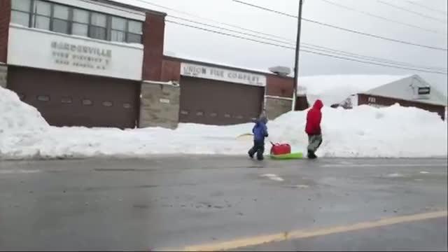 Huge Snow Covers Buffalo Streets