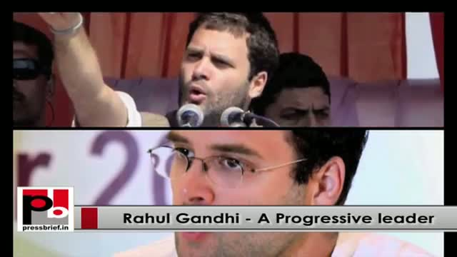 Young Congress VP Rahul Gandhi - young, progressive leader with innovative vision