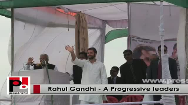 Young Congress VP Rahul Gandhi - a real mass leader who is never after any posts