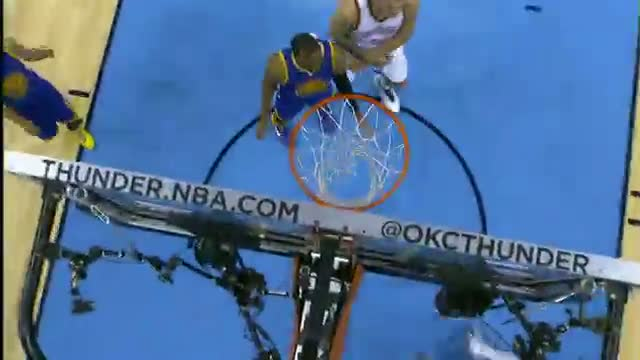 NBA: Reggie Jackson Explodes to the Rim for the And-1 Dunk