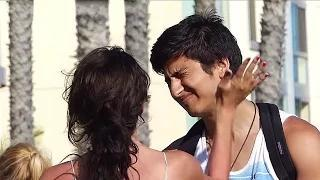 Kissing Prank - Kissing Girls without Talking (PRANKS GONE WRONG) - Kissing Strangers