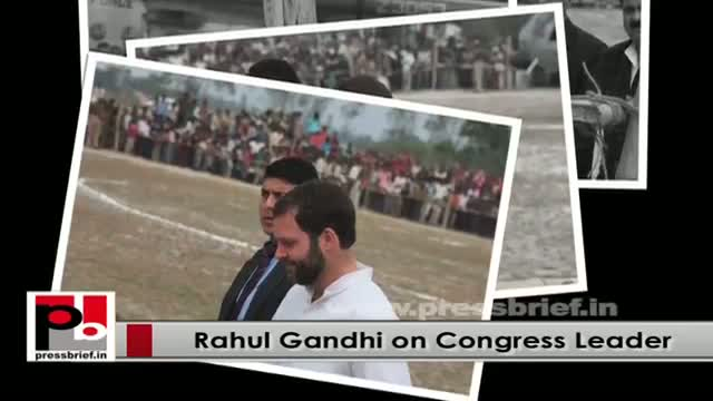 Rahul Gandhi - young Congress VP with a forward looking vision and innovative mission
