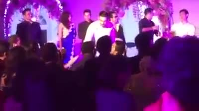 Salman Khan, Aamir Khan, Katrina Kaif, Priyanka Chopra, Karan johar at Salman's Sister Aripta Wedding