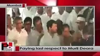 Sonia Gandhi, Rahul Gandhi, Priyanka Gandhi pay last respects to Murli Deora