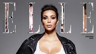 Kim Kardashian Covers Elle UK Fully Clothed