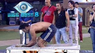 Bigg Boss 8: Upen Patel Takes A Dip In Cow Dung | Yuck!