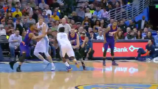 NBA: Kenneth Faried Flies Over Plumlee for the Ferocious Smash