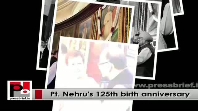 Sonia Gandhi, Rahul Gandhi pay tributes to Pt Nehru at Shantivan on his 125th birth anniversary