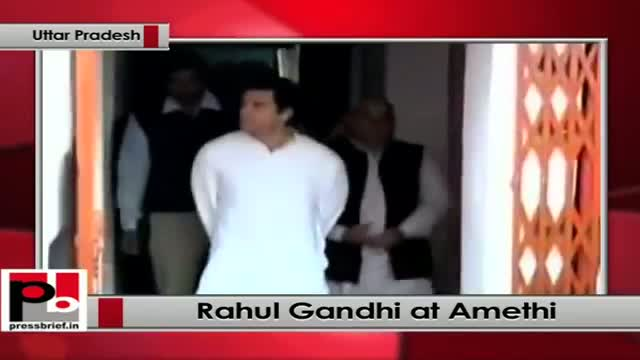 Rahul Gandhi on a two-day visit to Amethi, to meet Congress party workers