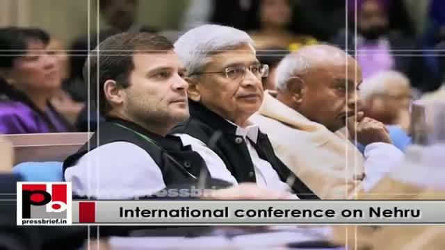 Sonia Gandhi, Rahul at International Conference on Pt Nehru