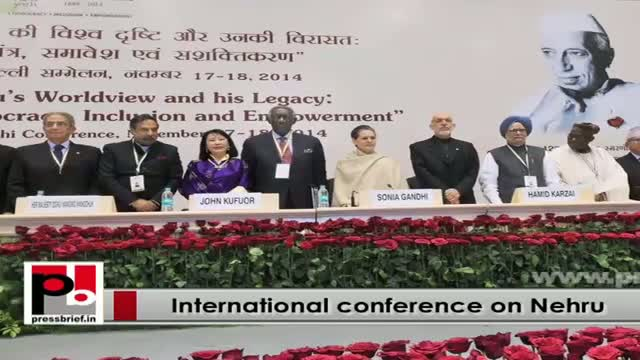 Sonia Gandhi, Rahul at International conference to commemorate 125th birth anniversary of Pt Nehru