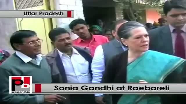 Sonia Gandhi visits Raebareli, monitors development works