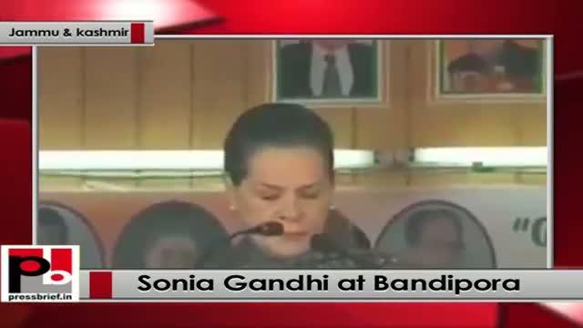 Sonia Gandhi addresses rally in Bandipora, J&K takes on BJP