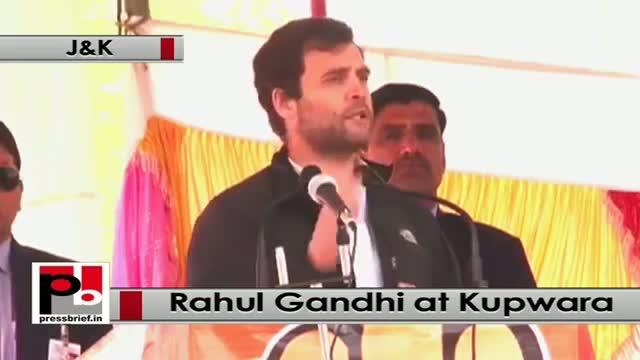 J&K polls: At Kupwara, J&K, Rahul Gandhi targets Modi and Omar governments, BJP