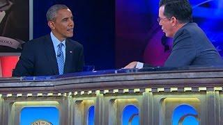 President Obama Visits Stephen Colbert Video