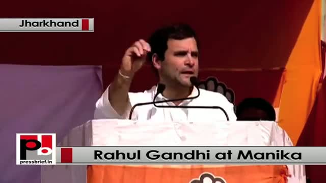 Jharkhand polls: Rahul Gandhi addresses poll rally in Manika, hits out at Modi govt