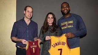 See PRINCE WILLIAM & KATE Meet BEYONCE & JAY Z Courtside Video