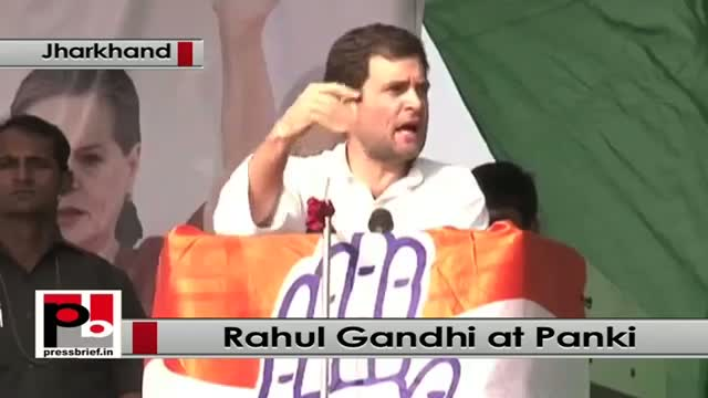 Jharkhand polls: Rahul Gandhi addresses poll rally in Panki, hits out at Modi govt
