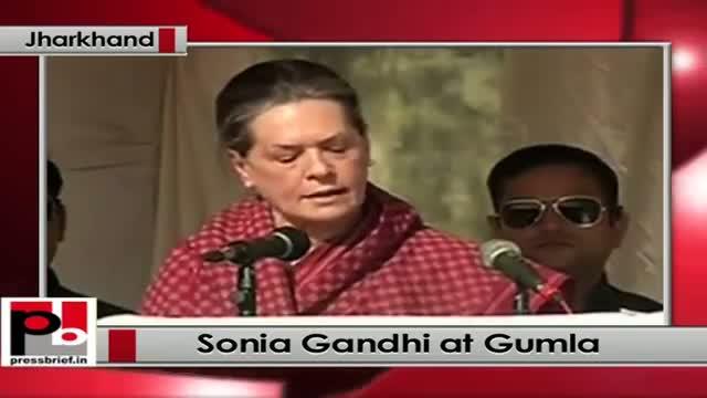 Jharkhand polls: At Gumla, Sonia Gandhi takes on BJP and Modi govt